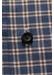 Navy overcheck flannel shirt - contemporary fit - Eton