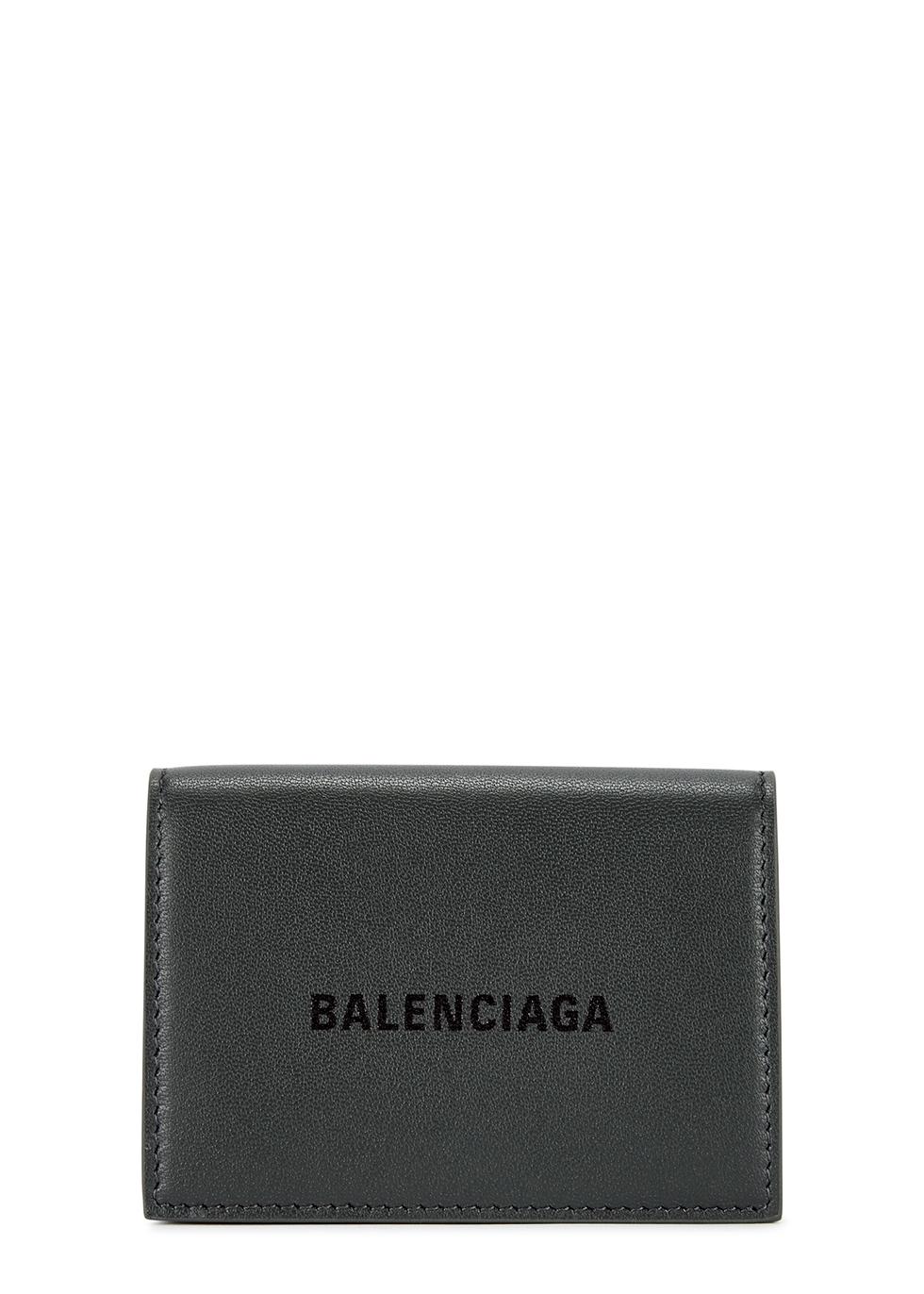 Mini dark grey leather wallet