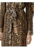 Cape sleeve animal print tie-waist shirt dress - Burberry