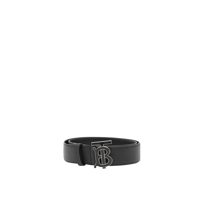 Burberry Monogram Motif Grainy Leather Belt