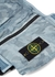 Blue camouflage canvas pouch - Stone Island