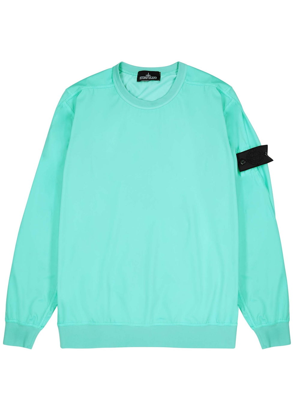 Aqua stretch-jersey sweatshirt