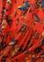 Red printed silk crepe de chine midi dress - Givenchy