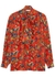 Red printed silk crepe de chine blouse - Givenchy