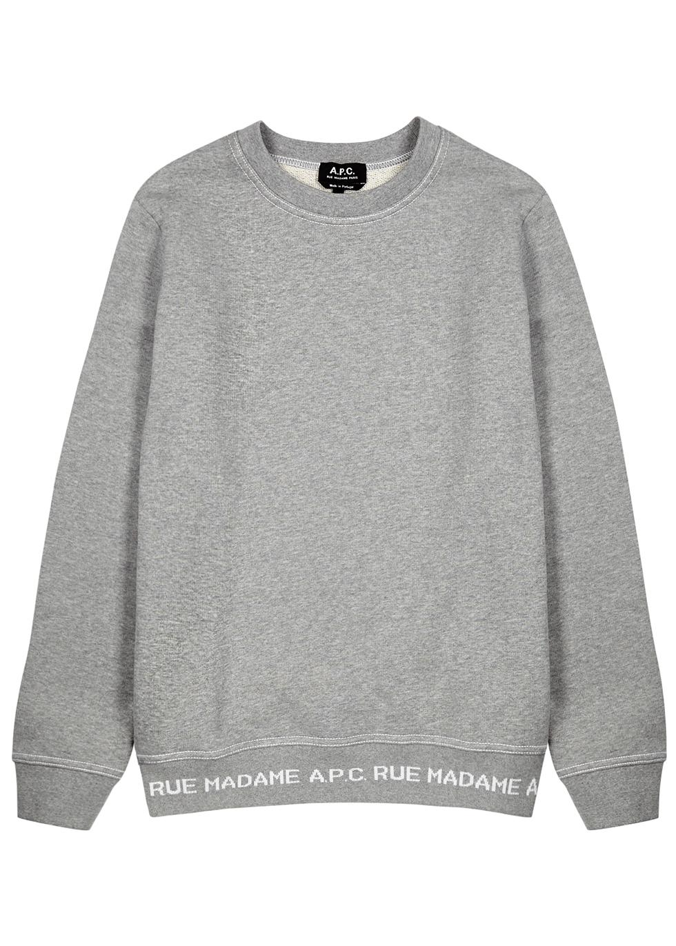 Grey logo cotton sweatshirt