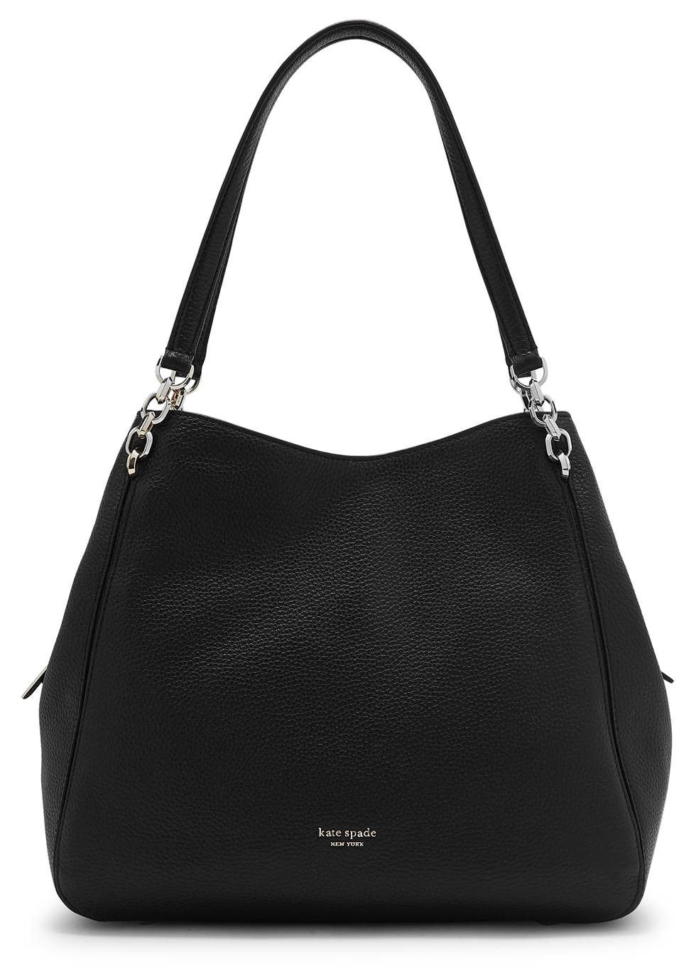 Hailey large black leather shoulder bag