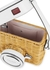 Rose wicker and leather camera box bag - Kate Spade New York