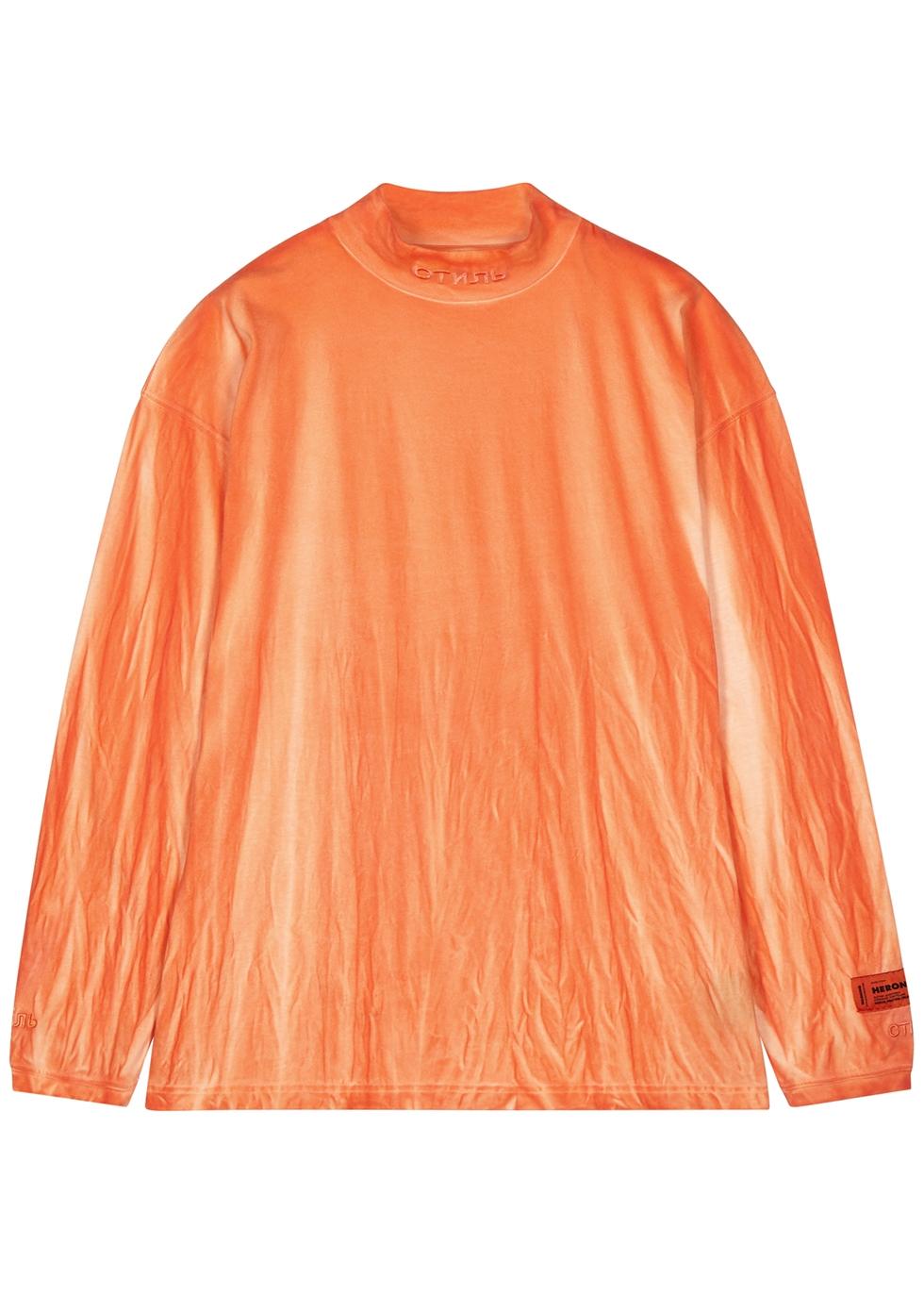 CTNMB orange tie-dye cotton top