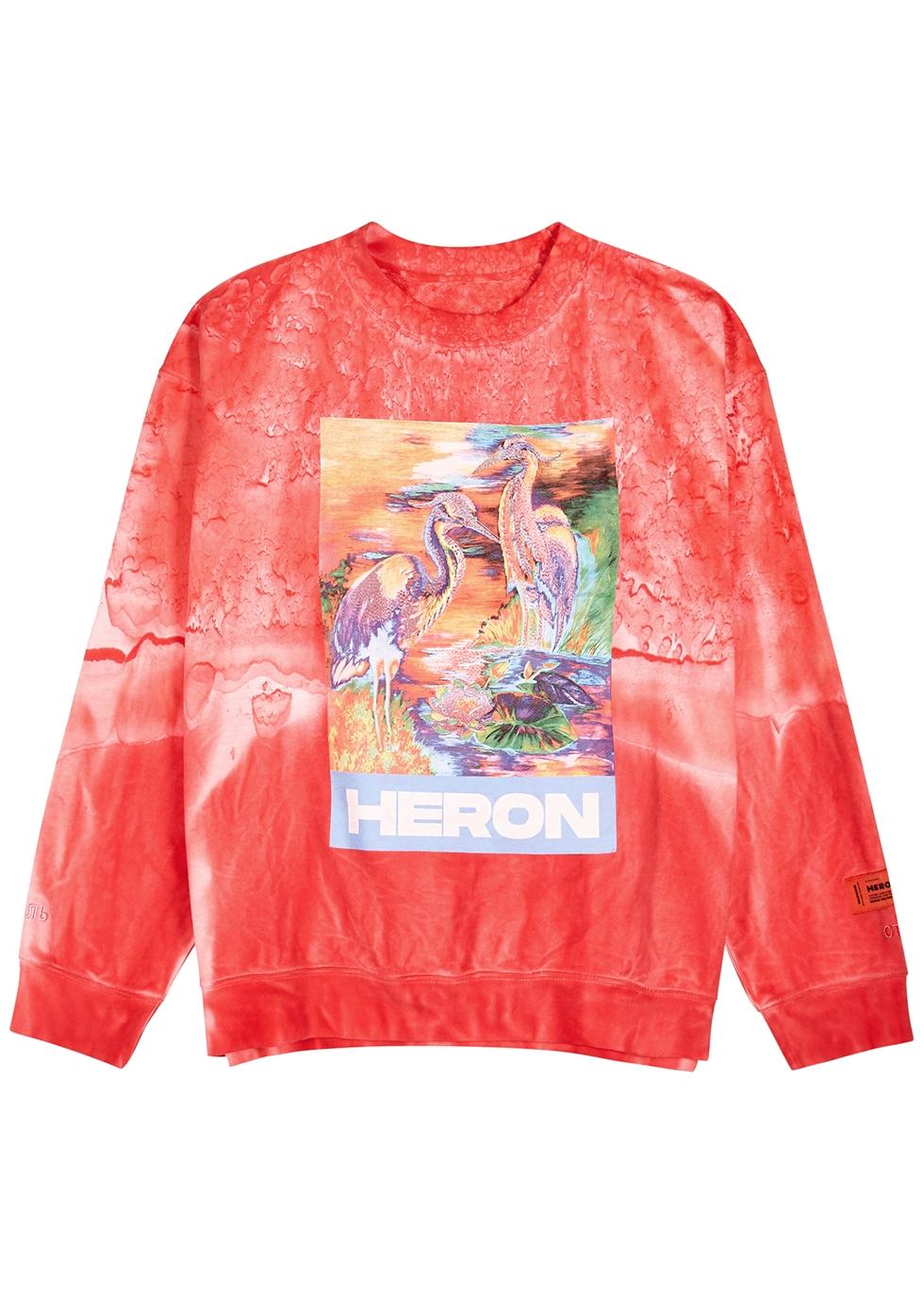 Red printed cotton sweatshirt