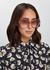 Peach oversized sunglasses - CELINE Eyewear