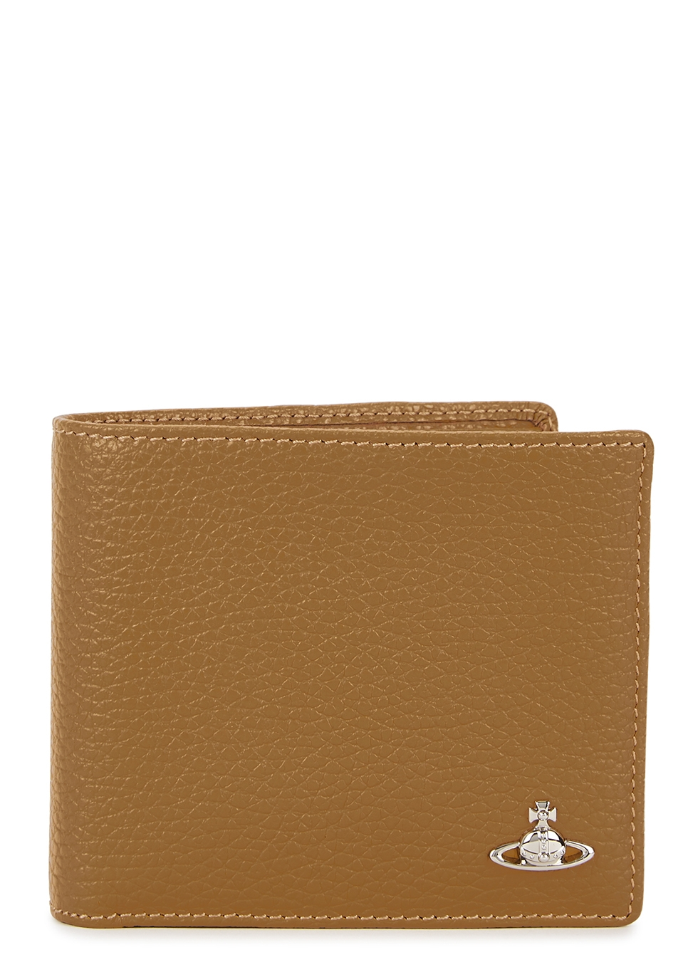 Mustard grained leather wallet