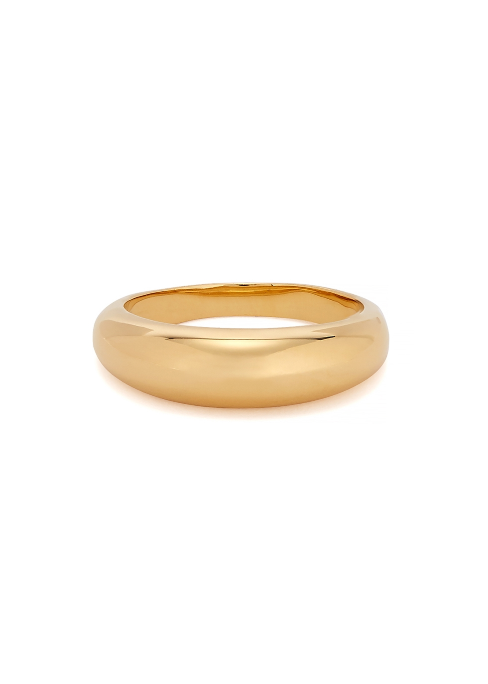 Thin Oli 18kt gold-plated ring