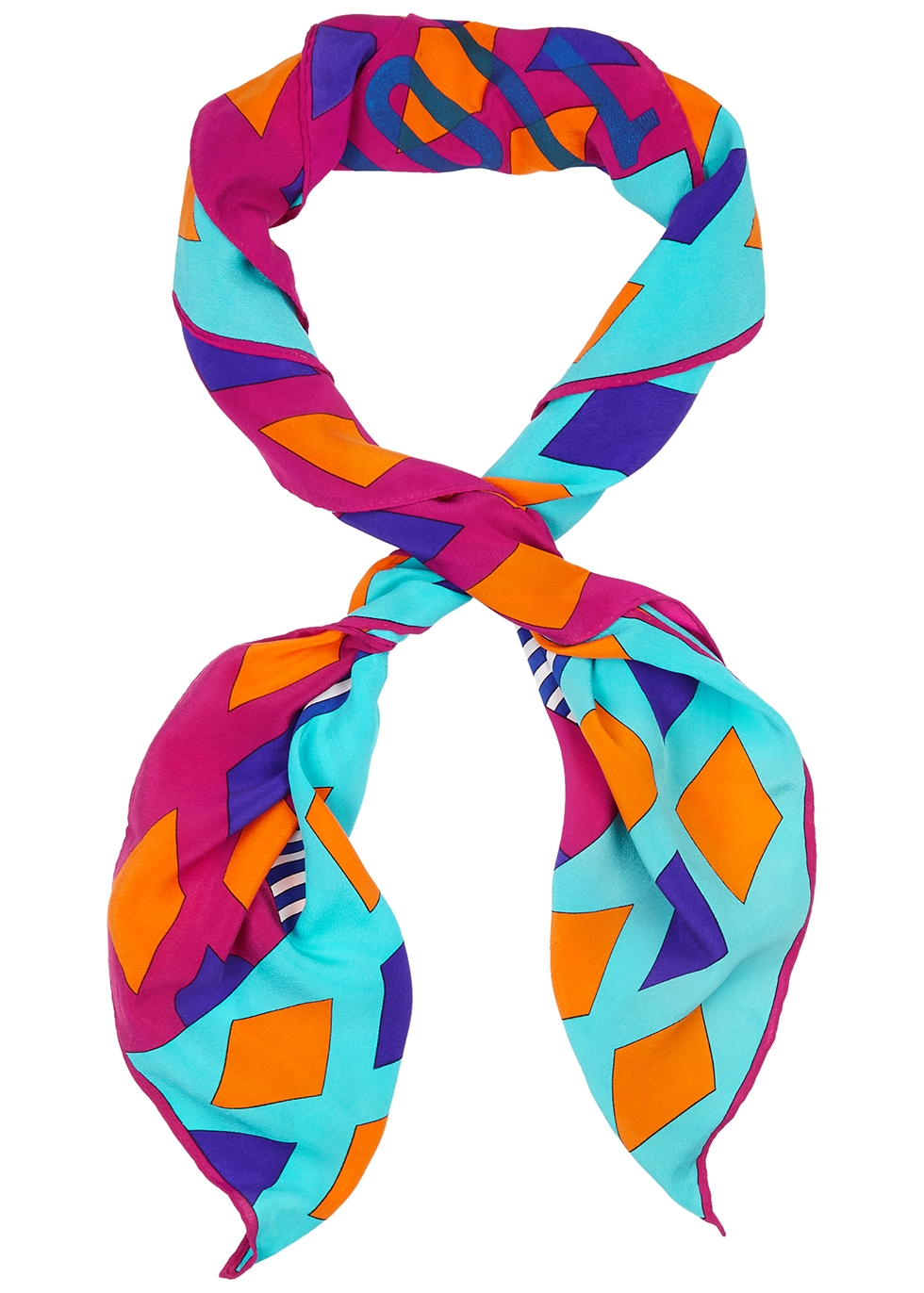 Printed chiffon scarf