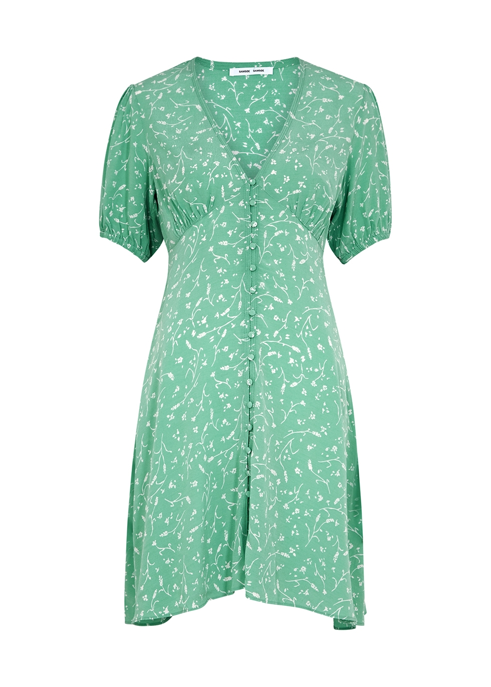Petunia mint floral-print mini dress
