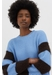 Sky-blue alpaca-striped chunky-knit cotton sweater - Chinti & Parker