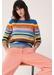 Multicoloured anni stripe wool-cashmere sweater - Chinti & Parker