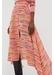 Dusty-rose verticals silk crepe de chine skirt - Chinti & Parker