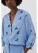 Sky-blue anni heart silk-twill blouse - Chinti & Parker