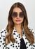 Lilo glitter-trimmed round-frame sunglasses - Jimmy Choo