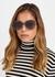 DiorAttitude1 grey oversized sunglasses - Dior