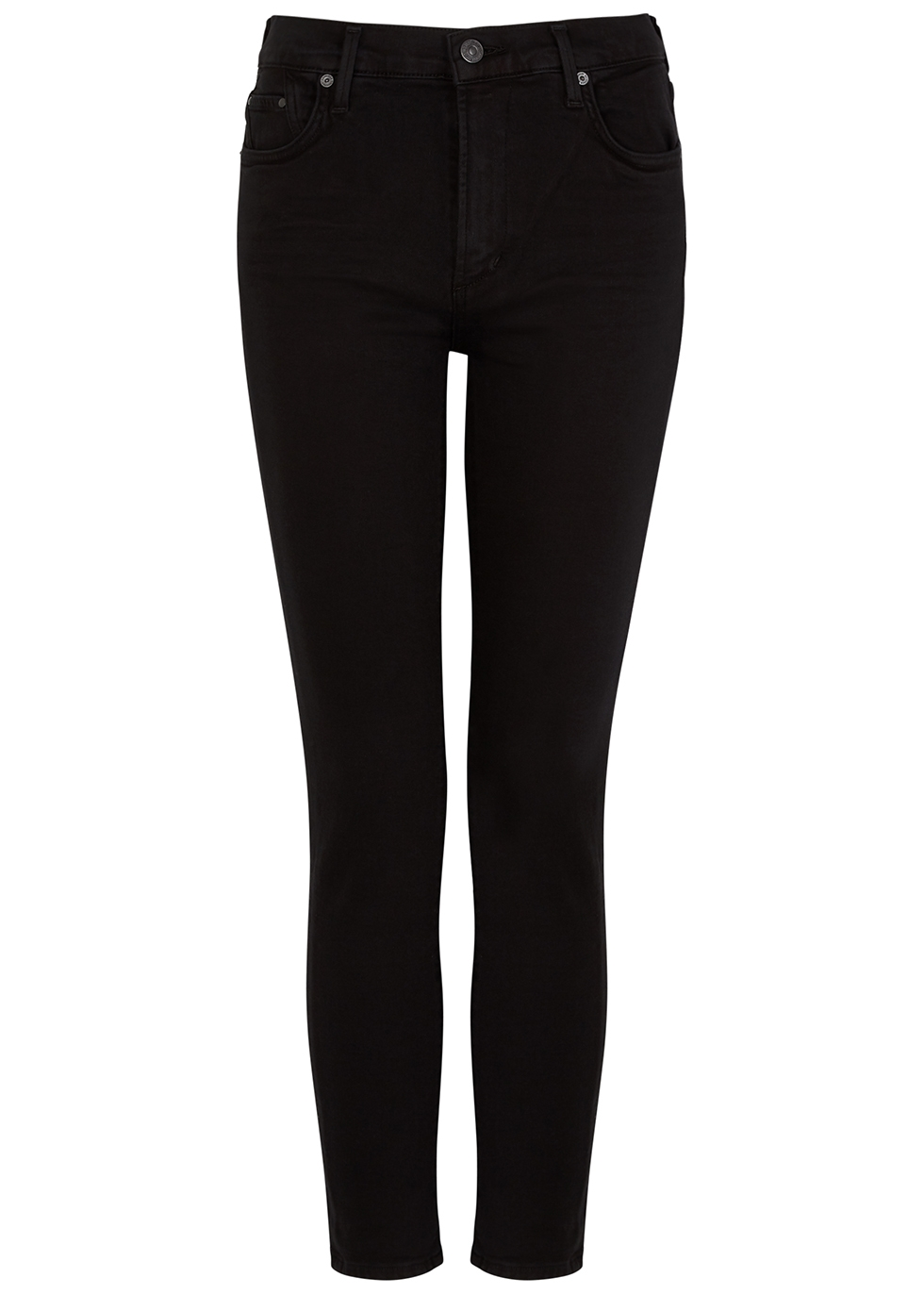 Citizens of Humanity Rocket Sculpt black cropped skinny
