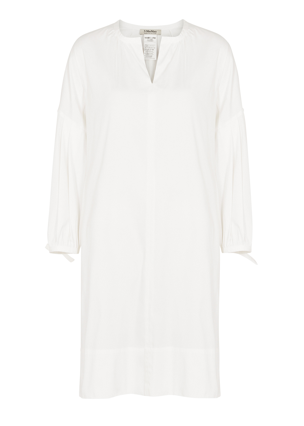 White cotton-blend dress