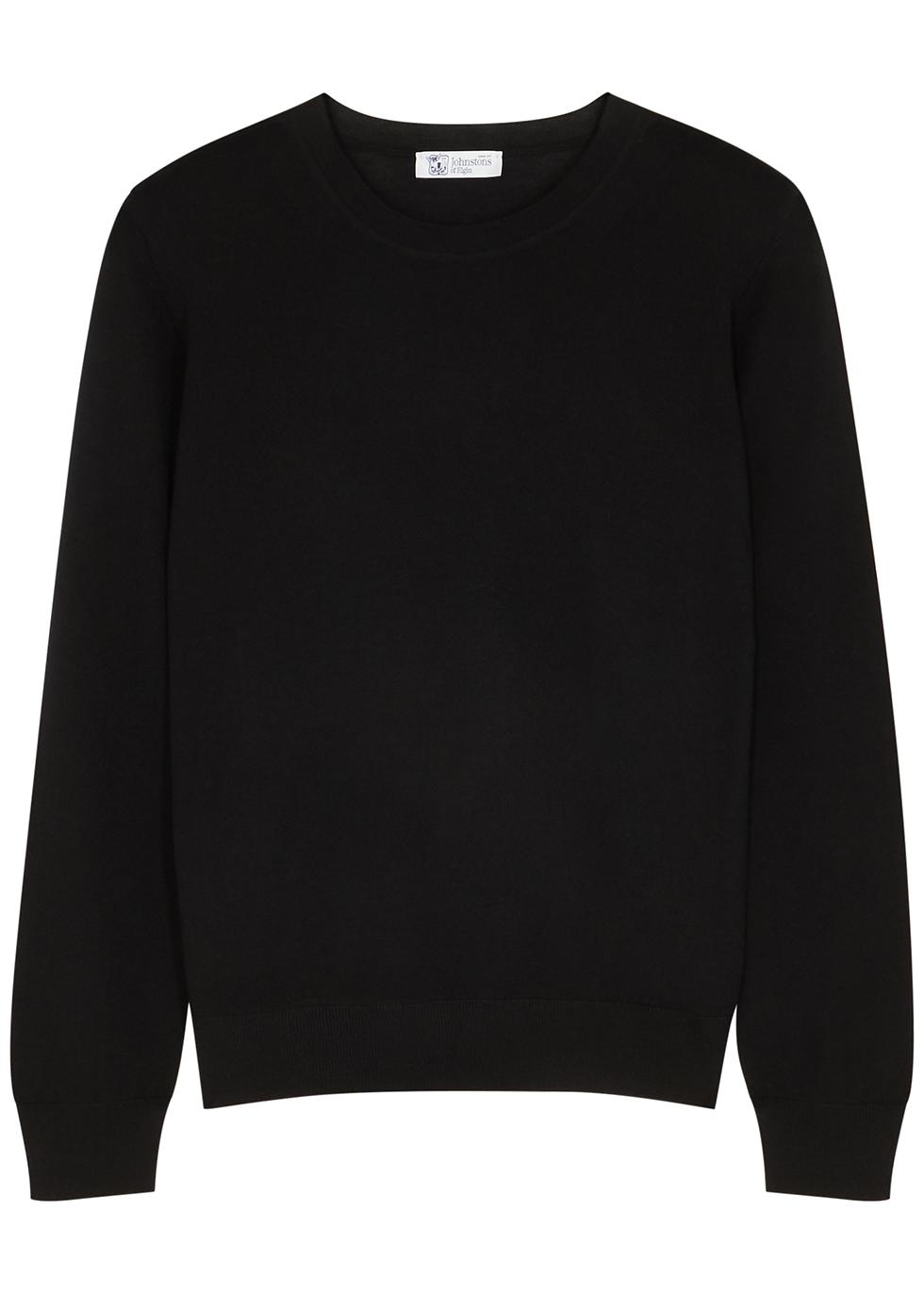 Maria black wool jumper