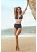 Anguilla bow style shoulder strap bikini bottom indigo - Valimare