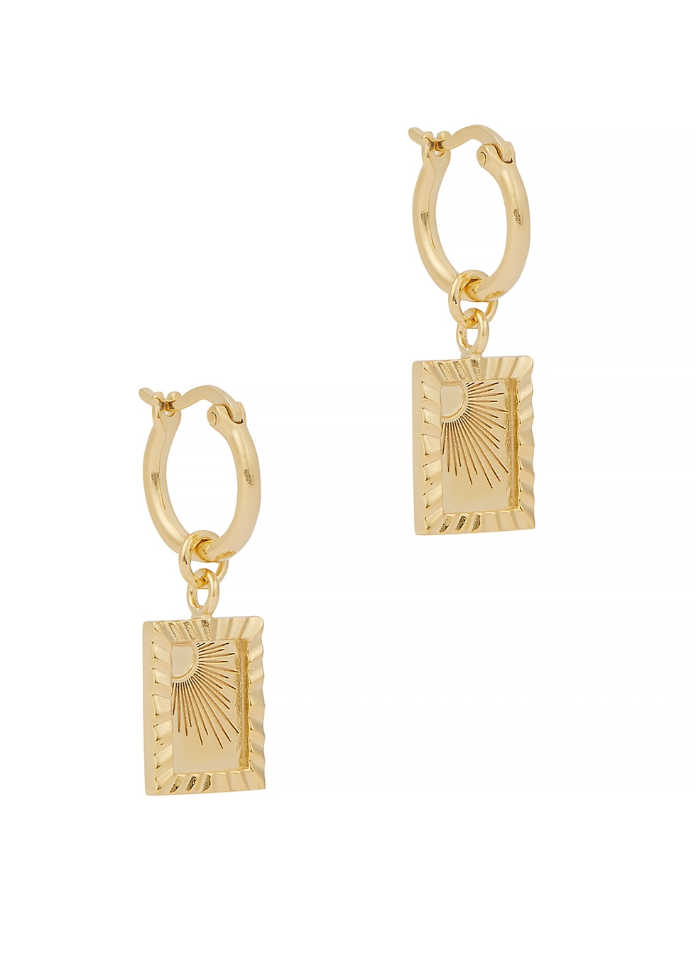 X Estée Lalonde 18kt gold-plated hoop earrings
