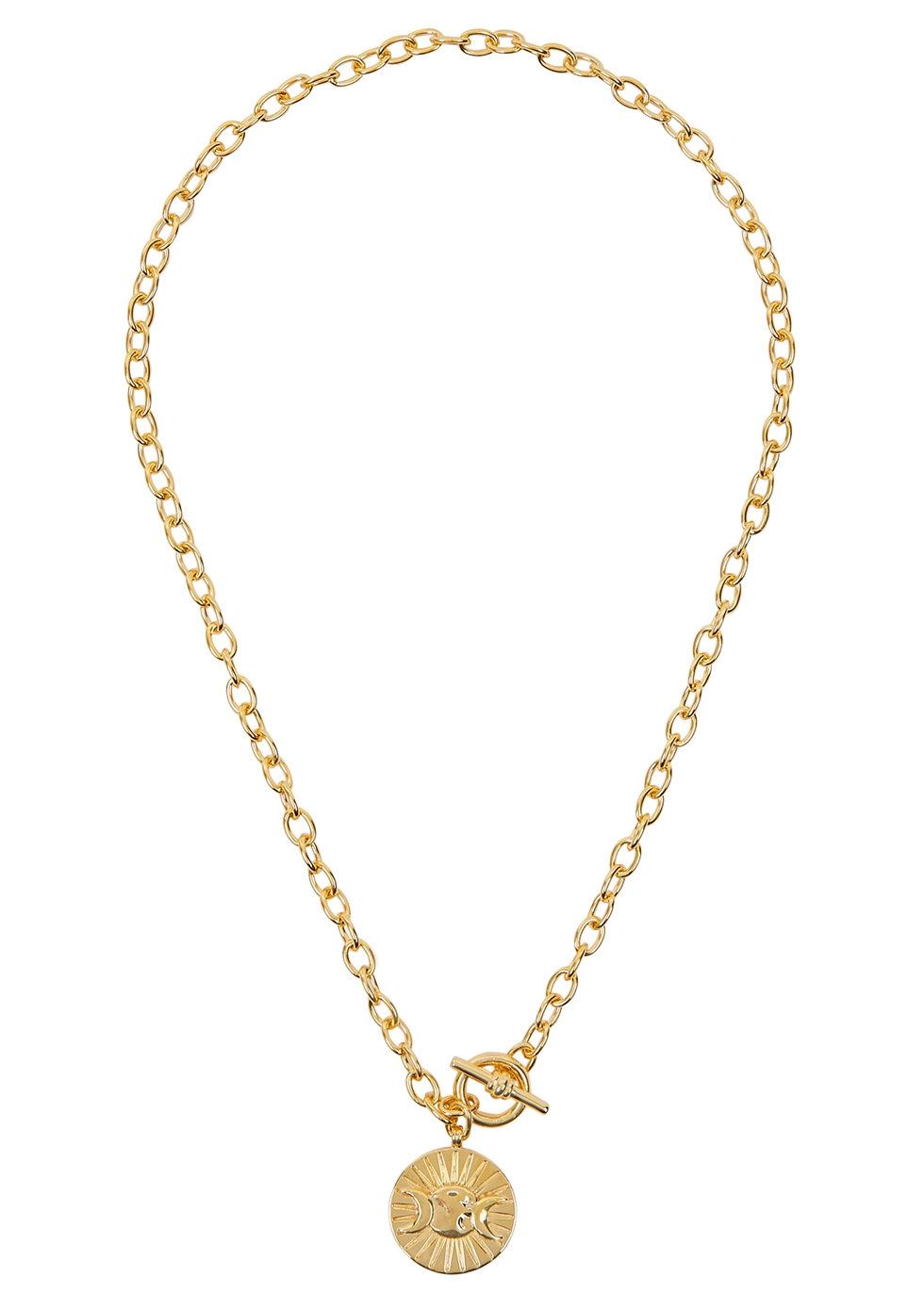 X Estée Lalonde Goddess 18kt gold-plated necklace