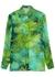 Green printed silk-chiffon blouse - Versace