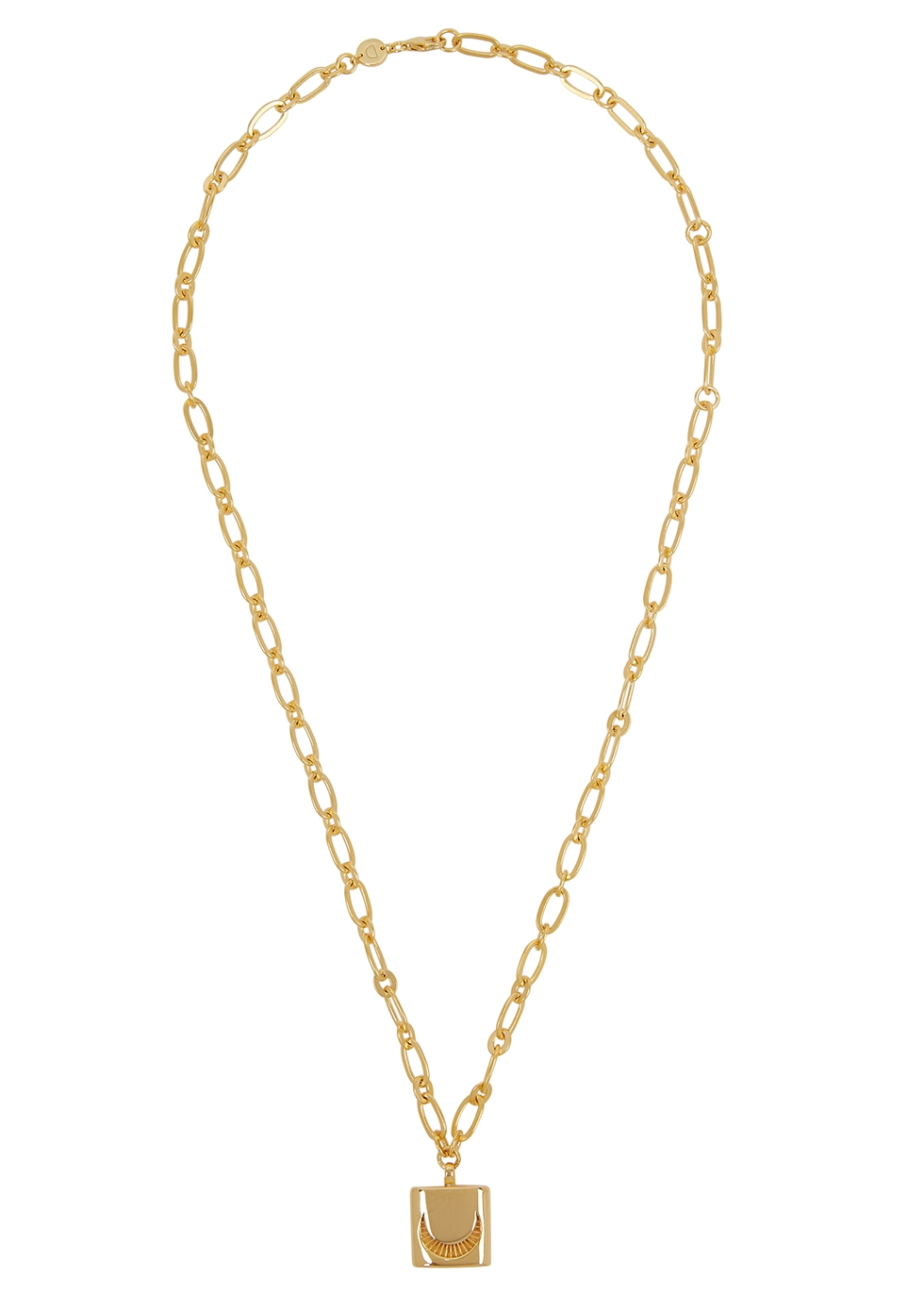 X Estee Lalonde Luna Lock 18kt gold-plated necklace