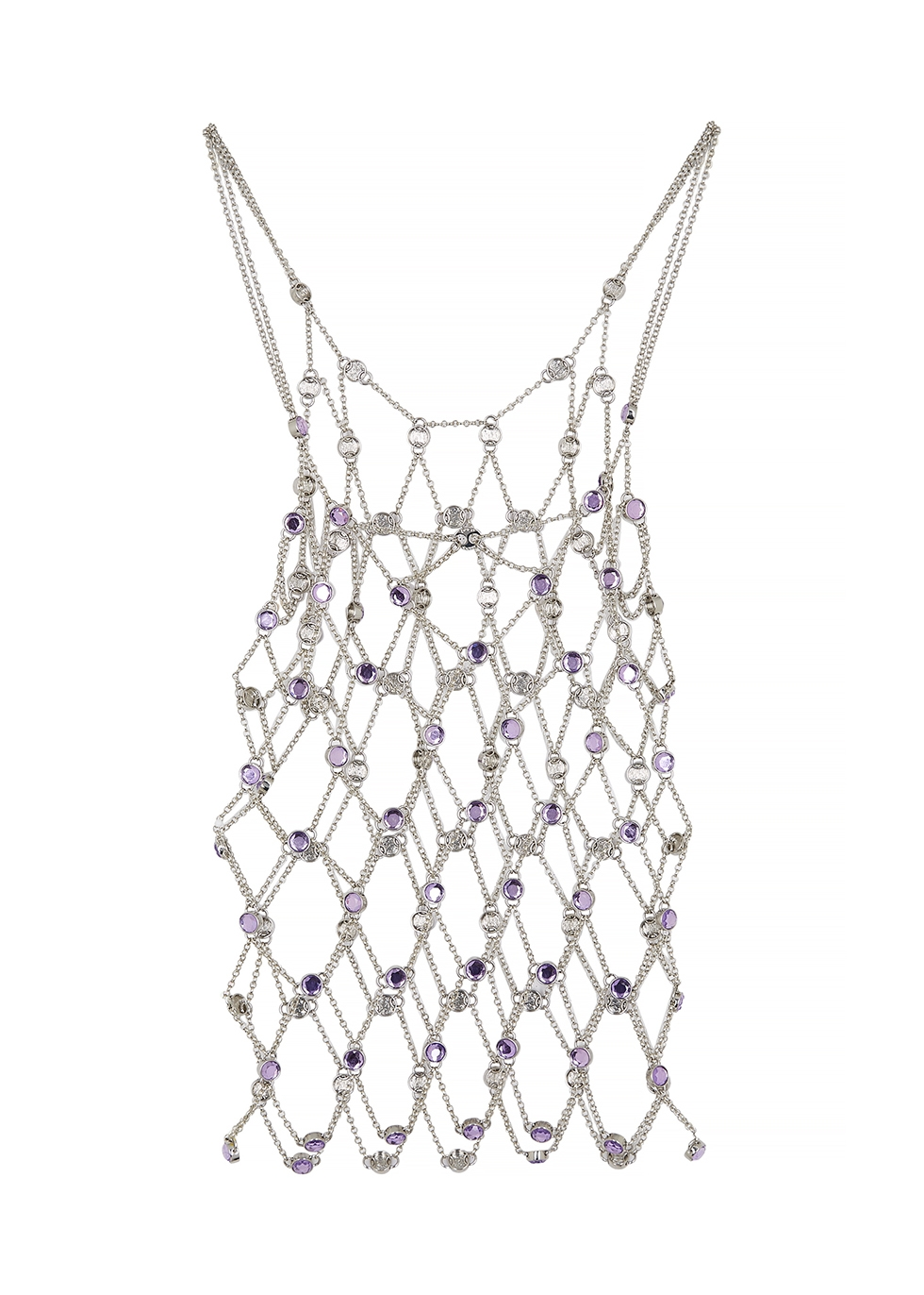 Crystal-embellished chain top