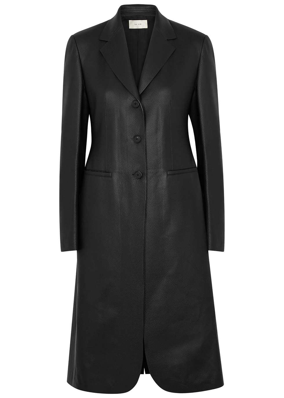 Panois black leather coat