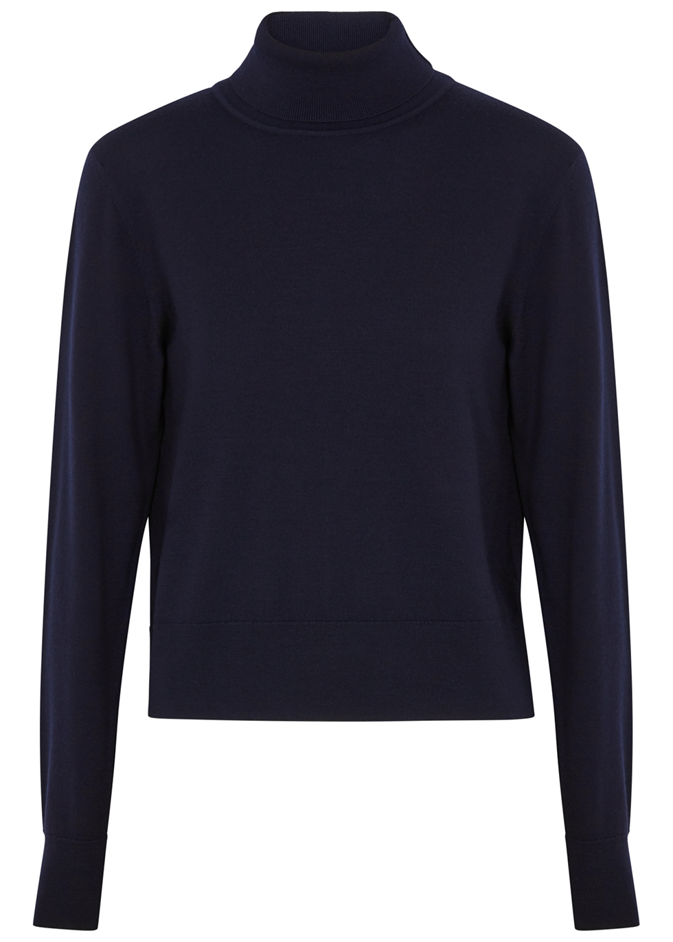 Chanic navy wool-blend jumper