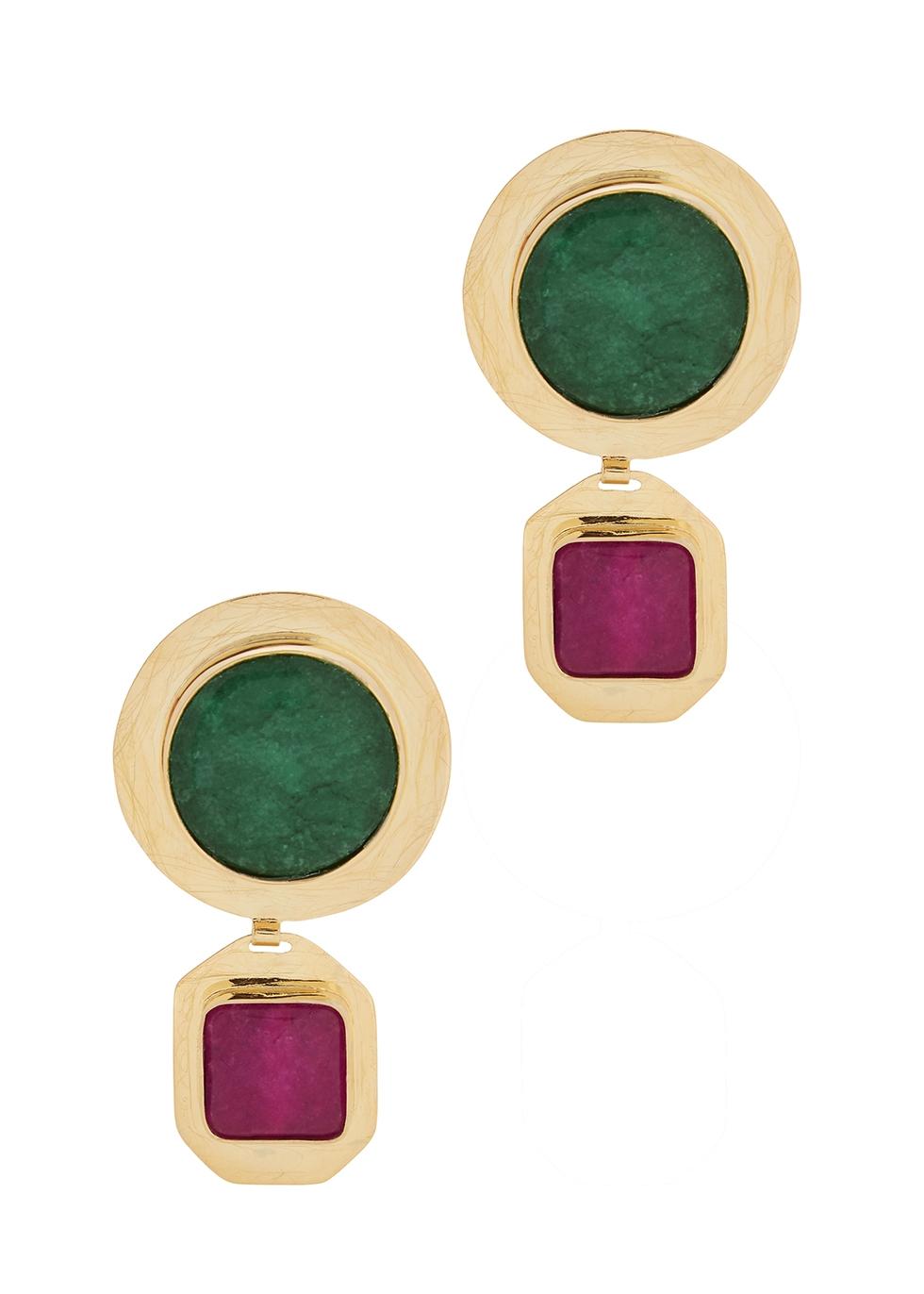 Kalanchoe gold-plated drop earrings