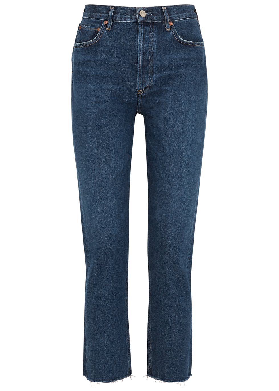 Remy blue straight-leg jeans