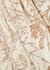Cream glittered chiffon mini dress - Paula Knorr