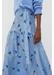Sky-blue anni heart silk-twill skirt - Chinti & Parker