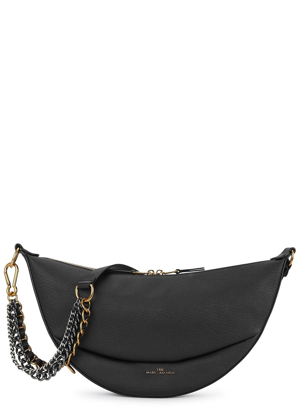 The Eclipse mini black leather shoulder bag
