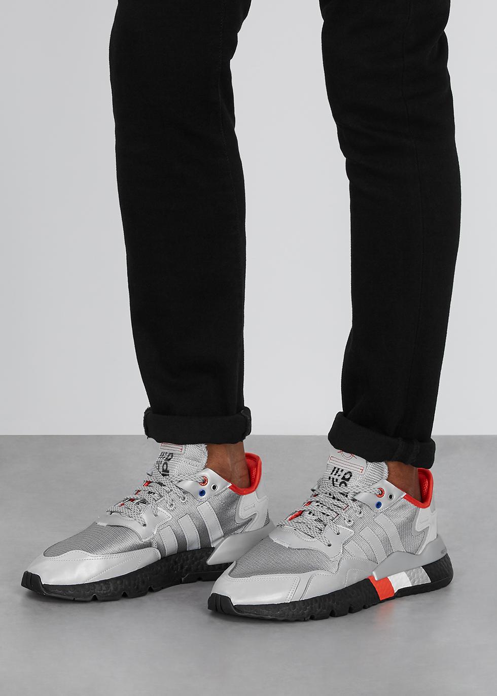 adidas originals nite jogger trainer in rose gold