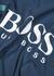 Urban blue logo-print jersey T-shirt - BOSS