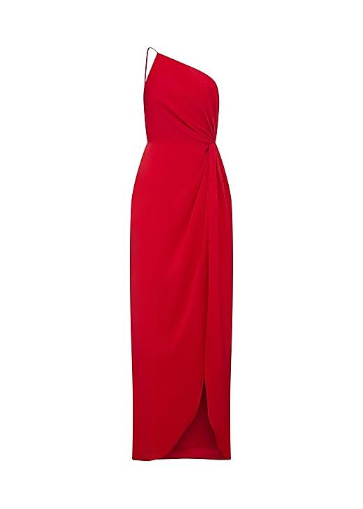 Draped charmeuse dress - Aidan Mattox