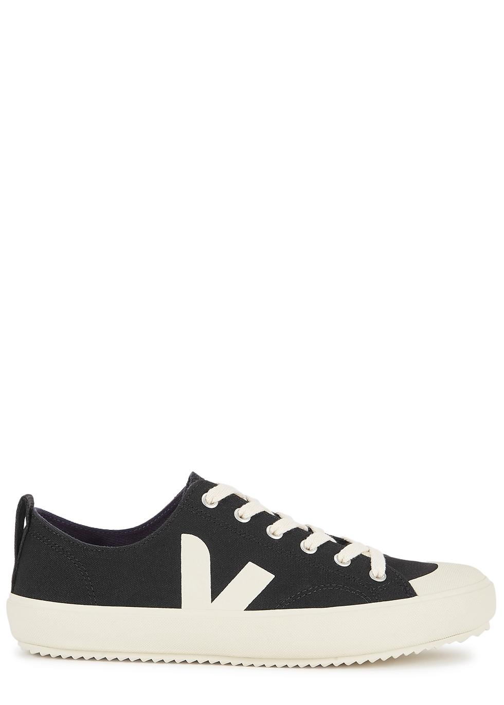 Nova black canvas sneakers