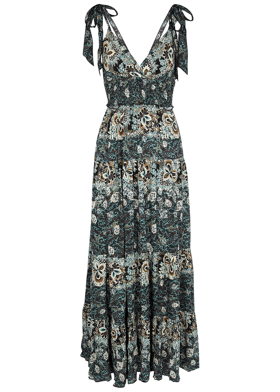 Lets Smock About It floral-print maxi dress