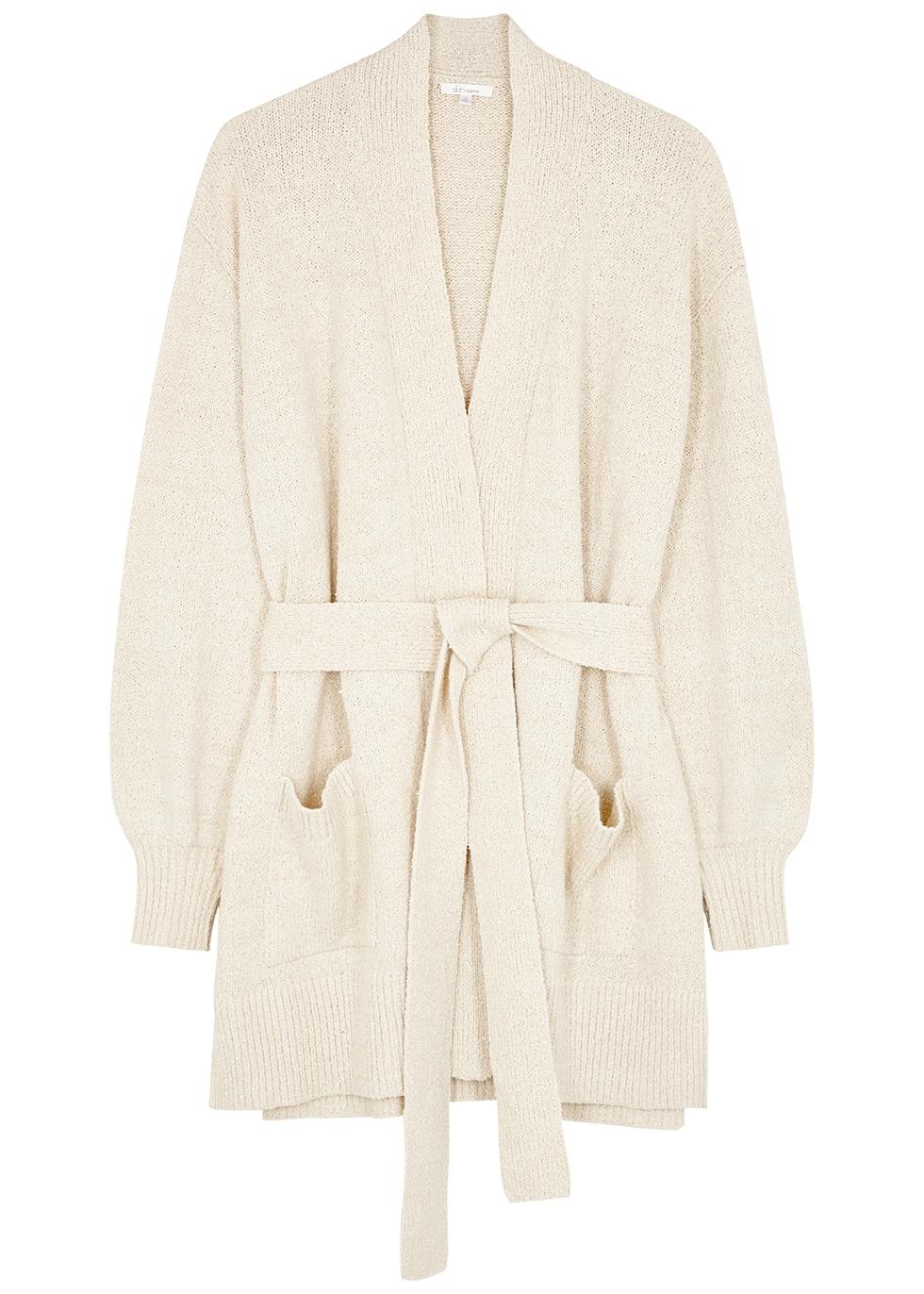 Marlee cream cotton-blend cardigan