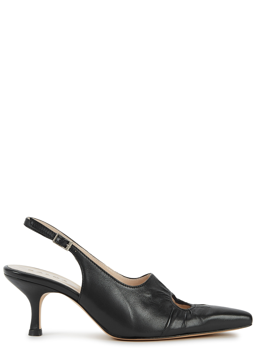 Peki 75 black slingback leather pumps