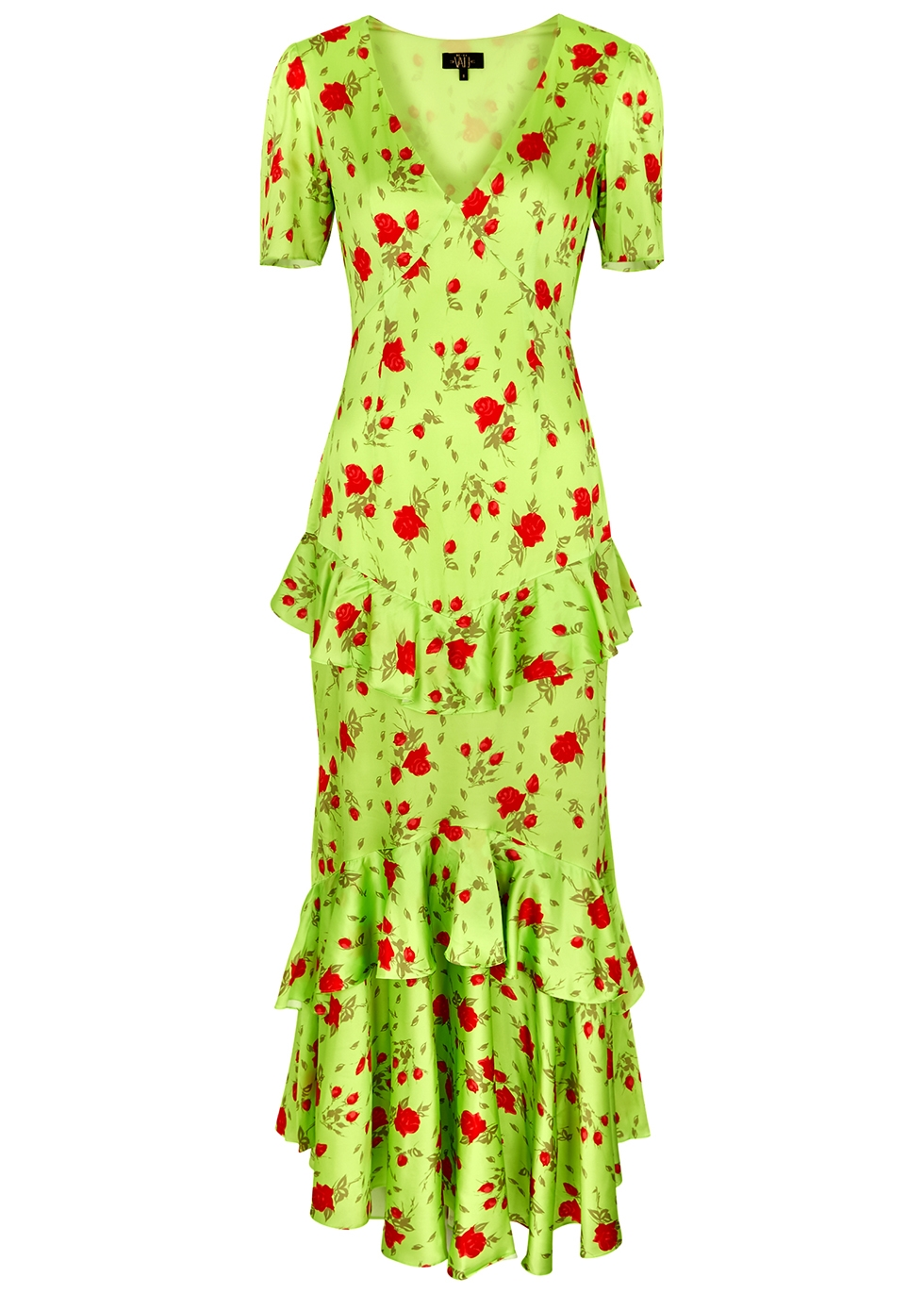 Juliette floral-print satin maxi dress