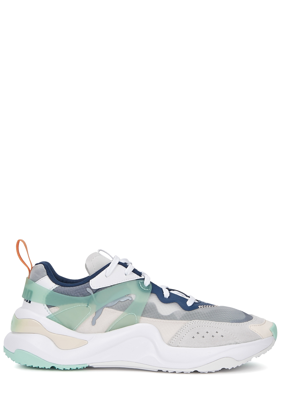 Rise panelled mesh sneakers