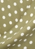 Olive polka dot-print midi dress - RACIL
